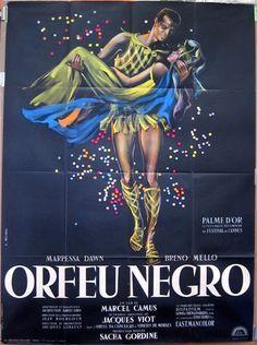 """""""Orfeu Negro"""", filme de Marcel Camus adaptado de """"Orfeu da Conceição"""", musical de Vinicius de Moraes e Tom Jobim"""