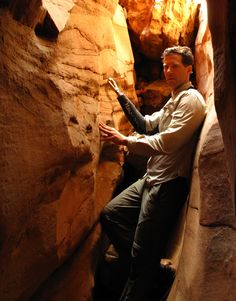 Aron Ralston returns to Blue John Canyon in Utah. Living On The Edge, True Stories, Movie Tv, All About Time, Hollywood, Actors, This Or That Questions, Utah, People