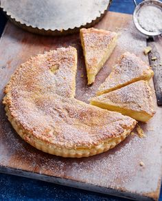 A custard tart flavoured with lemon and cinnamon will transport you to the Mediterranean with every bite. Pie Recipes, Sweet Recipes, Dessert Recipes, Cooking Recipes, Gluten Free Desserts, No Bake Desserts, Red Raspberry, Italian Cake, Sweet Tarts