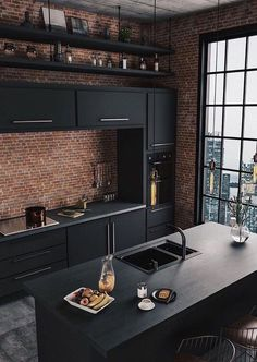 37 Top Kitchen Trends Design Ideas and Images for 2019 Part kitchen ideas; ki… 37 Top Kitchen Trends Design Ideas and Images for 2019 Part kitchen ideas; Industrial Chic Decor, Industrial Kitchen Design, Industrial Living, Interior Design Kitchen, Industrial Loft, Industrial Interiors, Vintage Industrial, Industrial Apartment, Industrial Bedroom