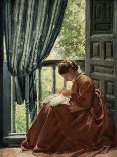 GOMEZ-MORENO Adela la costurera (1873)