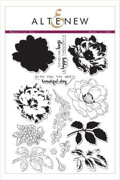 Hampton Art Cling Rubber Stamp Set Artistic Whimsical Flower Garden Lotus