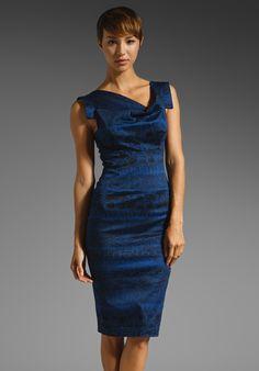 c7c7863605 BLACK HALO Jackie O Dress in True Blue Snakeskin at Revolve Clothing - Free  Shipping!