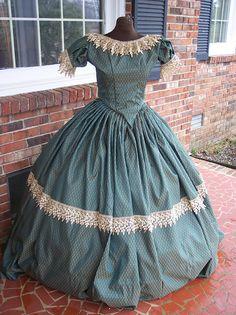 civil war ballgown & day dress