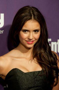 Nina Dobrevs partial updo hairstyle