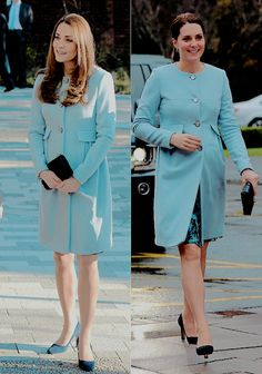 The Cambridges. - Two very different occassions but a delightful dresscoat for the Duchess! She has style & is always stunning! Kate Middleton Prince William, Prince William And Kate, William Kate, Estilo Kate Middleton, Kate Middleton Style, Duchesse Kate, Princess Katherine, Princesa Kate Middleton, Kate And Meghan
