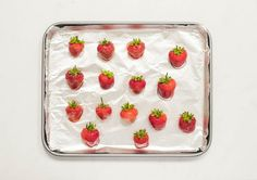 Glazed strawberries are fresh berries coated with a shiny candy shell. They make a gorgeous addition to a fruit platter, fruit tart, or berry cake. Candied Strawberries Recipe, Karo Syrup, Strawberry Syrup, Berry Cake, Pastry Brushes, Fruit Tart, Hard Candy, Glaze, Cooking