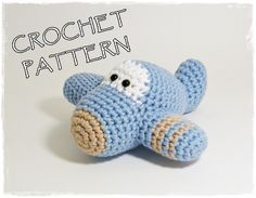 Baby Item Tutorials – PDF - Amigurumi Plane crochet pattern – a unique product by ByMarika on DaWanda