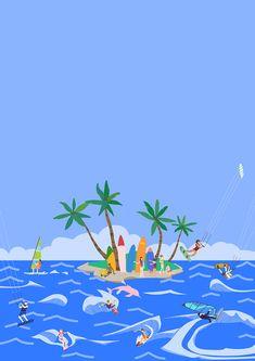 #여름 #서핑 #윈드서핑 #물놀이 #바다 #휴가 #일러스트 #summer #surf #surfing #windsurfing #ocean #wave #vacation #illust #illustration Diy And Crafts, Surfing, Ipad, Waves, Ocean, In This Moment, Vacation, Drawings, Illustration