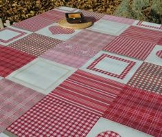 Mantel Patchwork Red