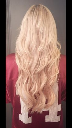 Blonde hair with tape in extensions