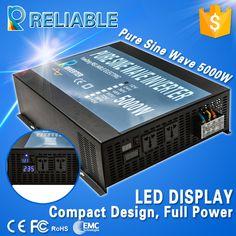 5000W 48VDC To 220VAC Voltage Converter LED Display Off Grid Pure Sine Wave Solar Power Inverter DC AC Transformer Solar System