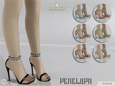MJ95's Madlen Penelopa Sandals | Sims 4 Updates -♦- Sims Finds & Sims Must Haves -♦- Free Sims Downloads