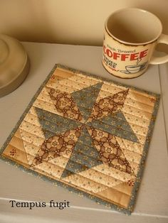 Mug rug Barbara Brackman by Tempus fugit