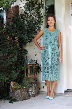 Beaded Shetland linen dress Sharon Miller, Knit Picks, Yarn Needle, Knitting Needles, Christening, Summer Dresses, Cotton, How To Wear, Design
