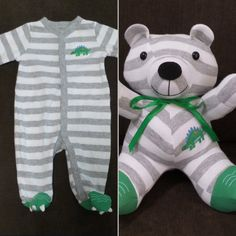 Recycling Baby Onesies Into Stuffed Animals Recycling, Teddy Bear Gifts, Diy Bebe, Baby Grows, Baby Crafts, Baby Sewing, Future Baby, Baby Items, Baby Love