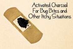 Activated Charcoal For Bug Bites. links to other uses for charcoal. Link to natural neopsorin. Natural Home Remedies, Natural Healing, Herbal Remedies, Health Remedies, Healing Oils, Natural Medicine, Herbal Medicine, Bites And Stings, Alternative Health