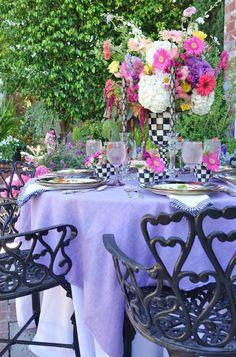 A Whimsical Garden Party Table…