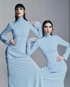 #theveronicas The Veronicas, Girl Bands, Style Me, High Neck Dress, Womens Fashion, Eye, Beauty, Dresses, Turtleneck Dress