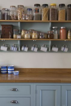 glass and porcelain jars at  modern kitchen decoration with Victorian style -4