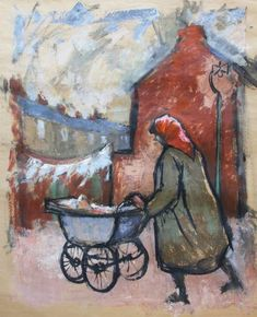 Norman Cornish - Lady pushing pram is available for sale at Castlegate House Gallery. Norman Cornish, Bishop Auckland, Apple Art, Paintings For Sale, Art Google, Impressionist, Art Drawings, Contemporary Art, Illustration Art