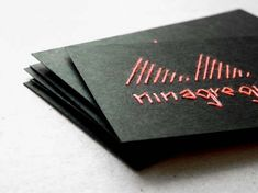 Sew your own business cards!