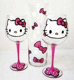 Hello Kitty wine decanter set