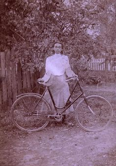 "Elizabeth Cady Stanton wrote that the bicycle taught ""an equality in social relations without distinction as to color or previous conditions of servitude."" Although mainstream magazines almost exclusively showed images of white cyclists, African Americans such as this young woman also took to the road. (Photo courtesy of Sue Macy)"