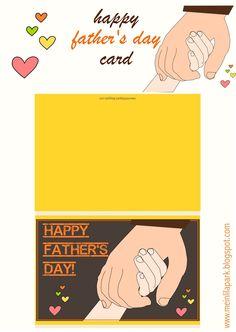 Free printable happy father's day card - ausdruckbare Karte - freebie | MeinLilaPark – DIY printables and downloads