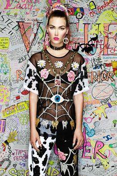 'GOT MILK' MESH T-SHIRT Dolly Fashion, Fashion Dolls, Alternative Fashion, Alternative Style, Mesh T Shirt, Street Style Edgy, Traditional Fashion, Fashion Seasons, Festival Wear