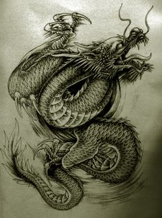 More @ http://tattooideen.at/drachen-tattoo/