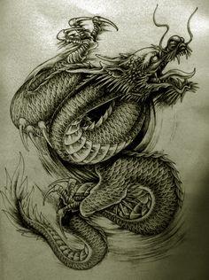 More @ http://tattooideen.at/drachen-tattoo/