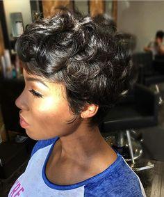 Gorgeous pixie styled by #phillystylist @itsherstylist✂️ Classic❤️ #voiceofhair========================== Go to VoiceOfHair.com ========================= Find hairstyles and hair tips! =========================