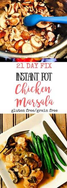 21 Day Fix Instant Pot Chicken Marsala | Confessions of a Fit Foodie