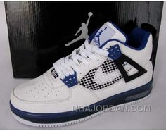 http://www.nbajordan.com/air-jordan-force-fusion-4-white-black-count-blue-authentic.html AIR JORDAN FORCE FUSION 4 WHITE BLACK COUNT BLUE CHEAP TO BUY Only $66.00 , Free Shipping!
