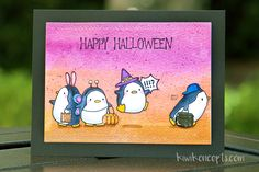 I love working with these penguins because they allow me to get creative! I decided to take these guys out for one more halloween card, but rather than do any masking this time around, I cut them o...
