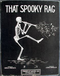 That Spooky Rag, 1912 sheet music for Halloween Old Sheet Music, Vintage Sheet Music, Music Sheets, Retro Halloween, Halloween Images, Halloween Poems, Halloween Eve, Halloween Music, Music Illustration