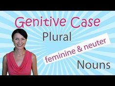 New Russian grammar video lesson: The Genitive of Plural Feminine and Neuter Nouns
