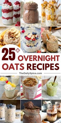 26 Healthy overnight oats recipes that will keep you full the whole morning and satisfy your sweet cravings. 26 Healthy overnight oats recipes that will keep you full the whole morning and satisfy your sweet cravings. Healthy Breakfast Recipes, Healthy Recipes, Healthy Food, Healthy Meals, Healthy Filling Breakfast, Healthy Breakfast Meal Prep, Cheap Recipes, Protein Breakfast, Nutritious Meals