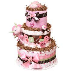 elegant diaper cakes | Little Lady LadyBug Diaper Cake