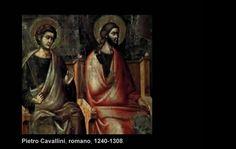 Arte previo al renacimiento italiano.  Pietro Cavallini (1240-1308)  Roma, Italia
