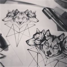 wolf tattoo This makes me think of the triple goddess. Wolves are so closely associated with the moon and with the natural insticts that witches value. I would love this tattoo.