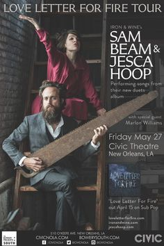 Sam Beam & Jesca Hoop: Civic Theatre New Orleans 2016