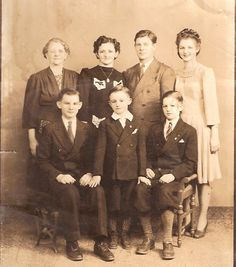 Nellie Clement with son, James and his family