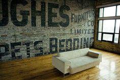 Méchant Studio Blog: huge words on wall