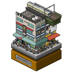 ta2nb-12 Isometric Art, Isometric Design, Architecture Drawings, Japanese Architecture, Cool Pixel Art, Pixel Art Games, Minecraft Architecture, Animation Reference, Game Assets
