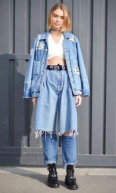 denim street style look #jeansjacket