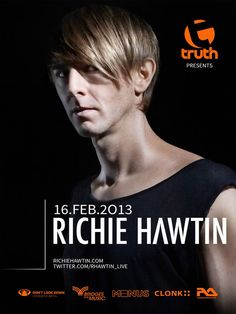 TRUTH presents RICHIE HAWTIN LIVE IN SA - Truth, in association with Bridges For Music, presents legendary techno artist Richie Hawtin Live in SA.    Richie Hawtin is globally recognised for his forward-thinking approach to making and playing electronic music. It is no exaggeration to call him a true pioneer.