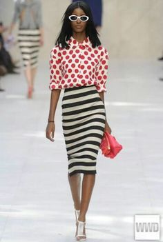 red and white striped pencil skirt | Gommap Blog