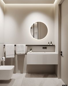 Architecture Visualization, Minimalist Interior, Home Renovation, Moscow, Toilet, Bathtub, Mirror, Interior Design, Furniture